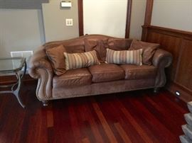 Ethan Allen Leather Sofa.  Loveseat, Chair and Ottoman also available (see additional photos)