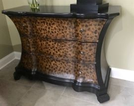 Hooker Leopard Pattern Chest of Drawers