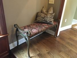 Metal Bench and Cushion