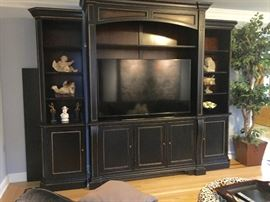 Tall Entertainment Wall System (Can accommodate larger screen TV)