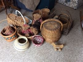 lots of baskets, vintage and newer, all purposes