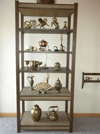 ETAGERE AND BRASS