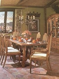 Drexel dining table in its original sales brochure
