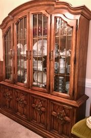 Side view of Drexel china cabinet