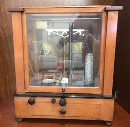 1910 Christian Becker analytical balance with all original weights and instructions