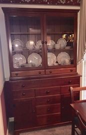 Mahogany step back cupboard. Handcrafted in Rogersville, TN