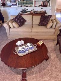Nice gold linen sofa