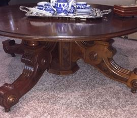 Round Victorian coffee table