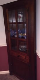 Pair of mahogany corner cabinets. Handcrafted in Rogersville, TN