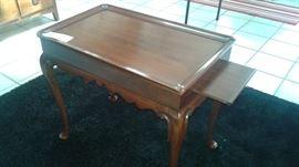 Henkel-Harris Black Cherry wood end table.