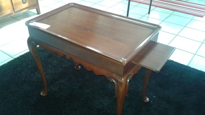 Henkel-Harris Black Cherry wood end table.