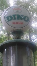 1920's Fry Mae West Gas Pump with original porcelain dome!! Offers are welcome on this item. you may submit offers to BKEstateSales@gmail.com .by July 4th, 8am SOLD