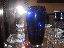 Baccarat Arlequin vases (small clear)  there are 3