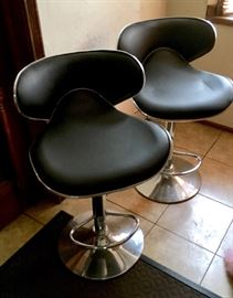 Faux leather stools