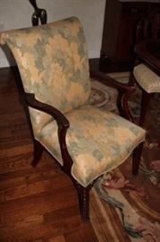 2 Upholstered Chairs for Heads of Table
