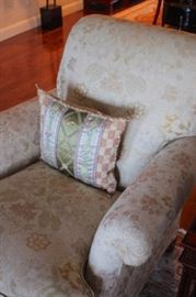 Upholstered Chair and Pillow