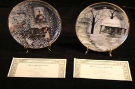 Franklin Mint Plates - Visitors