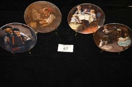 Norma Rockwell Collector Plates Heritage Series