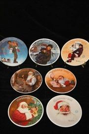 Norman Rockwell Christmas Plates - 1980's