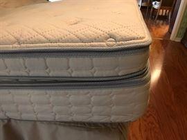 Showing Memory Foam topper, Mattress, base, and skirt
