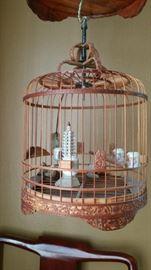 Vintage cane bird cage