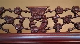 Carved detail on chiba cabinet