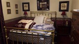 Queen Heavy Brass Bed