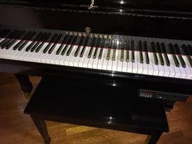 Young Chang CD Player Black Baby Grand Piano