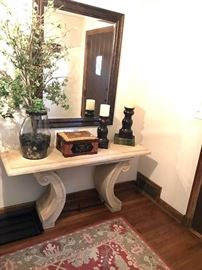 Stone Entryway Table with mirror