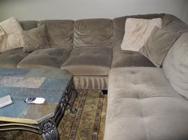 Comfy grey sectional