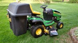 John Deere riding mower & accessories