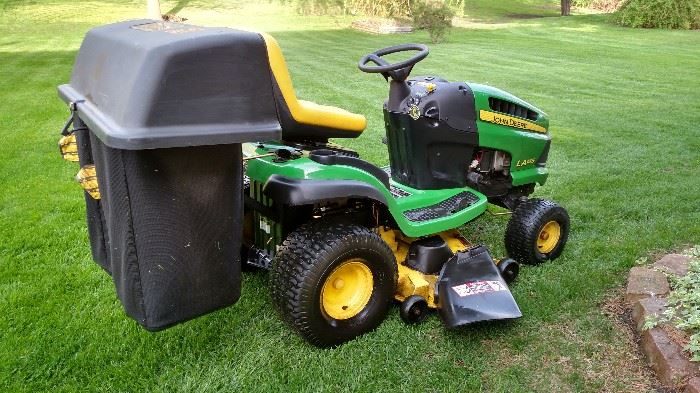 John Deere riding mower & accessories