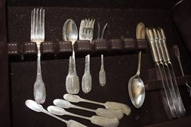 "Antique ""Marie Antoinette"" Alvin sterling flatware"
