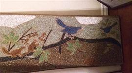 Vintage mosaic pebble artwork