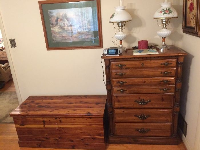 Vintage Chest of Drawers, Cedar Chest