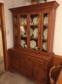 Tell City Maple China Cabinet