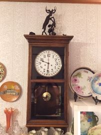 Vintage Regulator Wall Clock