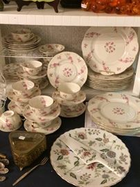 Haviland China Dish Set, Jewelry Casket