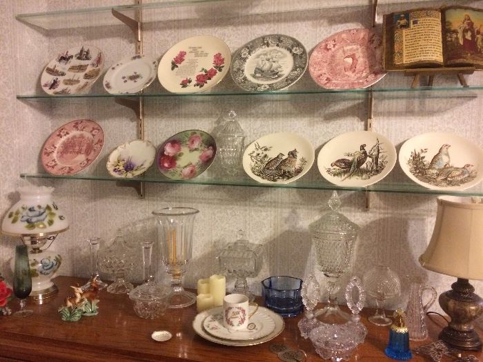 Collectible Plates, Depression Glass,