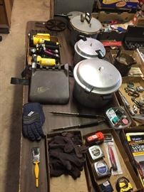 Pressure Cookers, Tape Measures, Flashlights