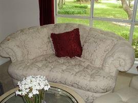 Second cream love seat