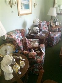 "Quality Upholstered Chairs, a ""Gone with the Wind"" Lamp and more!"