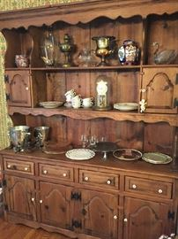 Habersham pine cabinet with all of the decorator trimmings!