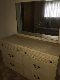 Mid Century Modern dresser and mirror