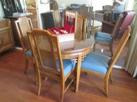 fabulous dining set with 4 chairs and matching buffet - will fit in any place