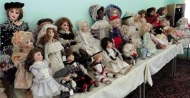 Dolls! Dolls! Dolls. Mostly crafted by the artist/owner. Some vintage and antique.