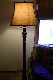 "Floor lamp measures 65"" tall."
