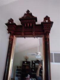 Large pier mirror detailed crown