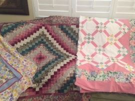 Several beautiful unfinished Quilts