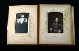 Antique 1800s Photo Album Tintypes